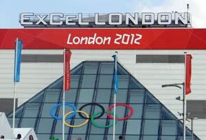 Excel centre at the London Olympics 2012