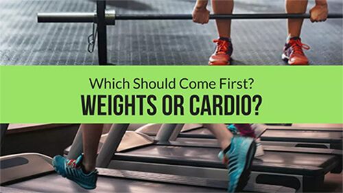 weights or cardio first